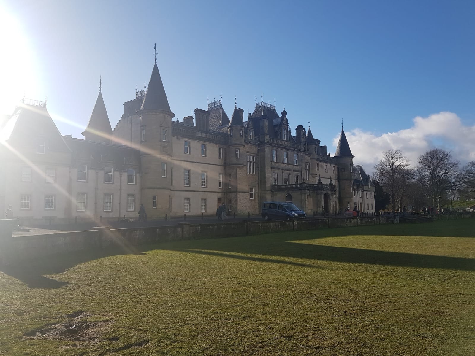 Callendar House in the Winter Sunshine.