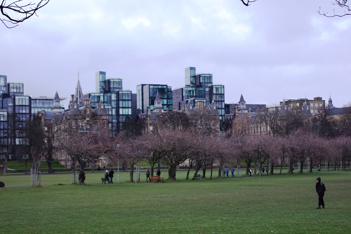 The modern and very expensive Quarter Mile apartments overlooking The Meadows, Edinburgh.